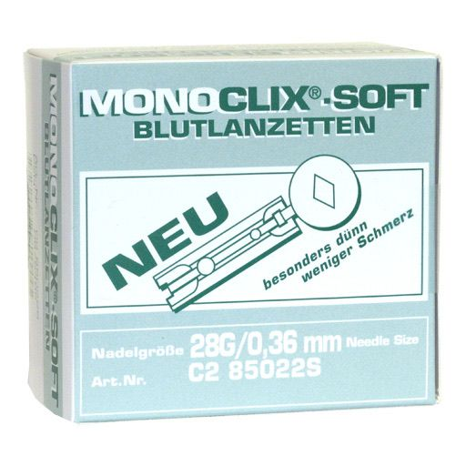 MONOCLIX Soft Blutlanzetten 25 G 0,5 mm steril