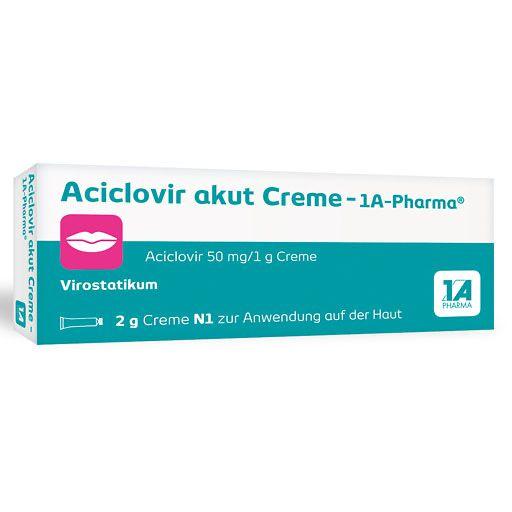 aciclovir akut creme 1a pharma 2 g herpes z hne mund. Black Bedroom Furniture Sets. Home Design Ideas