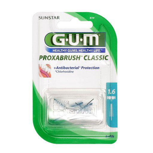 gum proxabrush ersatzb rsten 0 7 mm tanne 8 st. Black Bedroom Furniture Sets. Home Design Ideas