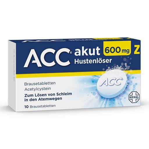 ACC akut 600 Z Hustenlöser Brausetabletten 10 St - Paul Pille