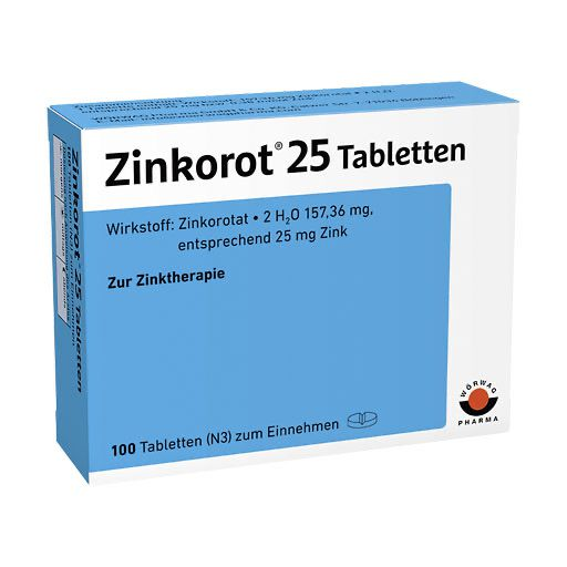 ZINKOROT 25 mg Tabletten