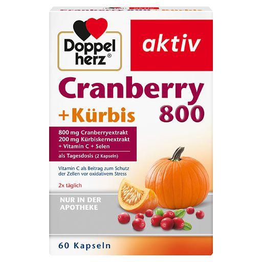 DOPPELHERZ Cranberry+Kürbis Kapseln 60 St à 0.91 g