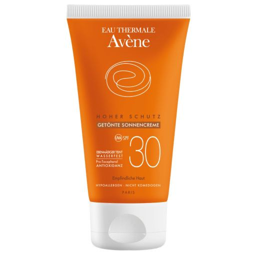 AVENE SunSitive Sonnencreme SPF 30 getönt 50 ml - Trockene