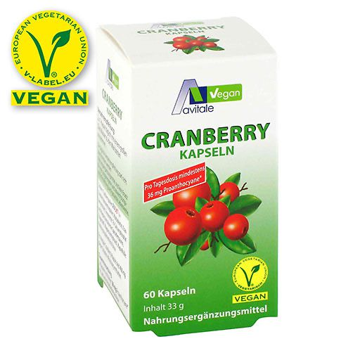 CRANBERRY VEGAN Kapseln 400 mg 60 St à 0.55 g