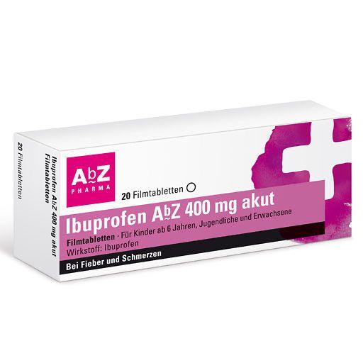 IBUPROFEN AbZ 400 mg akut Filmtabletten 20 St - Paul Pille