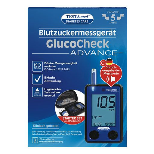 TESTAMED GlucoCheck Advance Star.-Kit mg/dl mmol/l