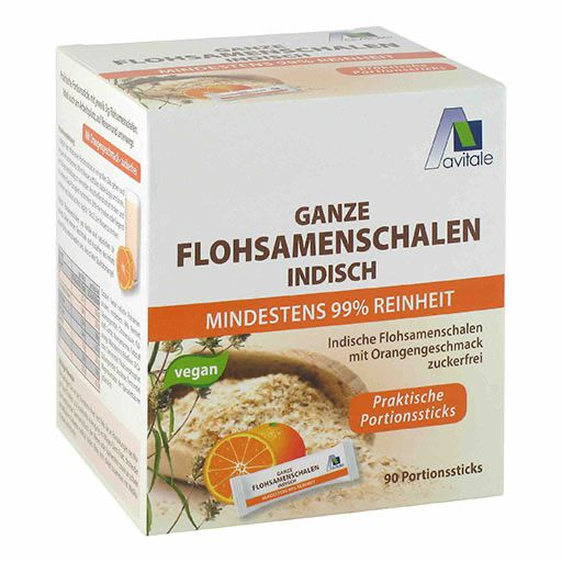 FLOHSAMENSCHALEN indisch Sticks Orange